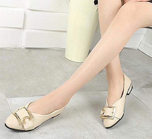 chaussures dautomne printemps de chaussures ceinture chaussures et sport à chaussures en boucle avec chaussures Beige de simple de femmes talons épais des OOaFZ