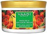 Vaadi Herbals Fresh Fruit Massage Cream, Apple Papaya and Kukum Butter, 500g