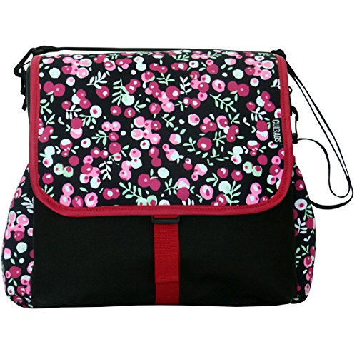 C-BAGS BETSIE single BERRIES Gepäckträger Fahrradtasche verschiedene Muster black-raspberry