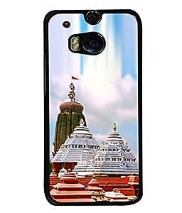 PrintVisa Puri Jagannath Temple High Gloss Designer Back Case Cover for HTC One M8 :: HTC M8 :: HTC One M8 Eye :: HTC One M8 Dual Sim :: HTC One M8s