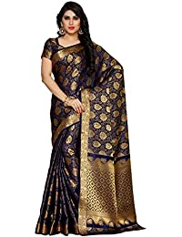 Mimosa Women's Silk Saree With Blouse Piece (4152-262-Nvy_Blue)