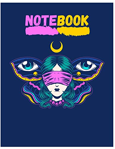rfly Composition Notebook/Journal for Adult/Children Animals Lovers to Writing (8.5x11 Inch.) Wide Ruled Lined Paper 120 Blank Pages (PINK&YELLOW&BLUE Pattern) ()