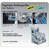Heytec Heyco 01857000000 Appareil numérique de contrôle de la pression des pneus, 3 fonctions