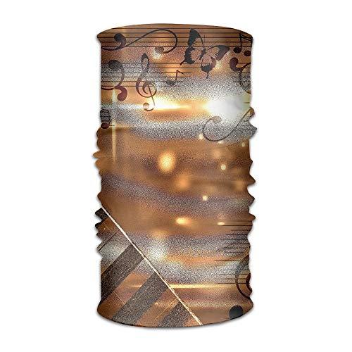 Preisvergleich Produktbild Walnut Cake Sturmhauben Sweatband Mask Golden Piano Music Notes Unisex Variety Scarf Wrap Bandanna Neck Gaiters Head Scarf Face Masks