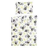 Bambou panda - Pati'Chou 100% Coton Linge de lit pour berceau bébé (Taie d'oreiller...