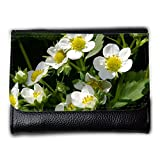 Portemonnaie Geldbörse Brieftasche // M00238284 Strawberry Blumen Erdbeerpflanze // Medium Size Wallet
