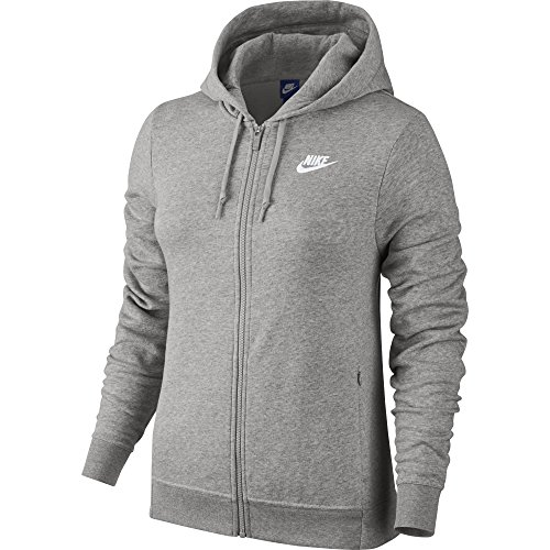 Nike Damen Langärmeliges Laufshirt Element 1/2 Zip Hoody, Dark Grey Heather/Matte Silver, XS -