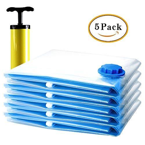 StillCool Vakuumbeutel 6 Stück Aufbewahrungsbeutel Hand verpackter mit Pumpe für Reise (5 Stück+Pumpe)