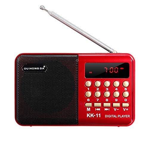 Tanchen DC 5 V 3 W Mini tragbar Pocket LCD Digital FM Radio Lautsprecher USB TF AUX MP3 Player