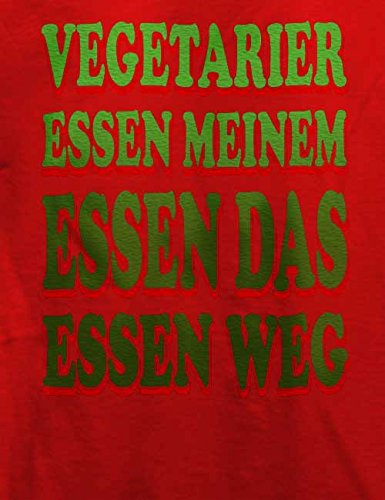 Vegetarier Essen Meinem Essen Das Essen Weg T-Shirt Rot