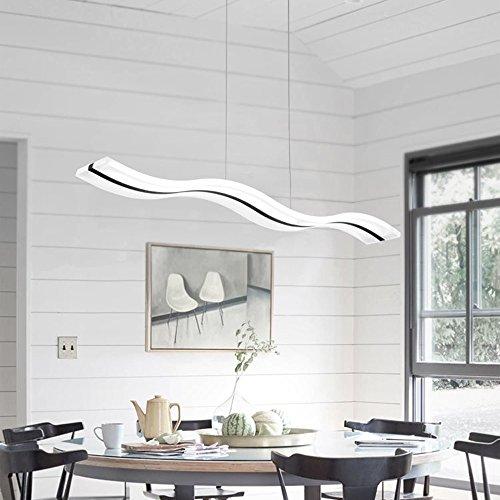 Lámpara colgante LED,Lámpara de techo de diseño moderno altura regulable para cocina techo Salón Dormitorio,6000k,Blanco frío