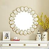Specchio da Bagno con Cornice a Forma di Conchiglia, Specchio Decorativo Rotondo, Diametro 60 cm (Dimensioni : 60cm)