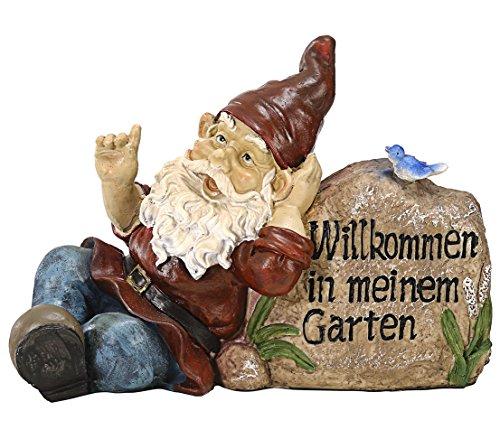 Dehner Dekofigur Gartenzwerg Willkommen in Meinem Garten, ca. 30 x 13 x 22 cm, Polyresin | Garten > Dekoration > Gartenzwerge | Dehner