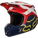 Fox Helmet V-2 Preme, Navy/Red, Größe L