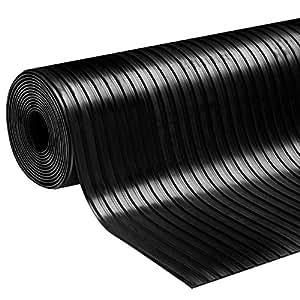 Gummiläufer | Meterware in vielen Größen | Gummimatten mit rutschhemmender Oberflächenstruktur | Breitriefen 100x100 cm | Stärke: 3 mm