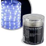 Kaemingk Micro LED Licht-Schlauch, aussen, Aussentrafo, 93 kaltweiße LED, 5 m lang 496013