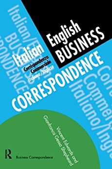 Italian/English Business Correspondence (Languages for Business) by [Edwards, Vincent, Shepheard, Gianfranca Gessa]