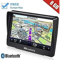 GPS per Auto, GPS Navigatore Satellitare Auto Touch Screen, Avviso Traffico Vocale, Limite di Velocit Promemoria Sistema di con Aggiornamenti Gratuiti a vita Della Europa Mappa, e Bluetooth