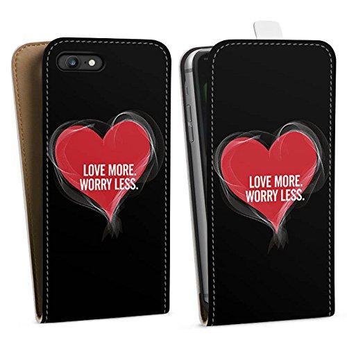 Apple iPhone X Silikon Hülle Case Schutzhülle Liebe Sprüche spruch Downflip Tasche weiß