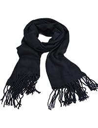 FINEJO Women Men's Fashion Long Soft Shawl Wool Blend Pashmina Shawl Scarf Tassels