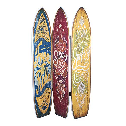 Biombo Paraban 3 Tablas de Surf Vintage 180 cm