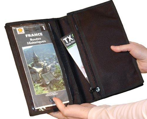 Samt-Reise organiser-porte documents-trekking 2210 schwarz