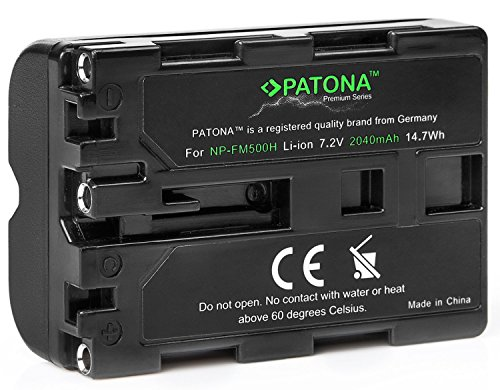 Bundlestar Premium EVO II Akku für Sony NP-FM500H (echte 2040mAh UL-Zertifikat) mit Infochip - Intelligentes Akkusystem
