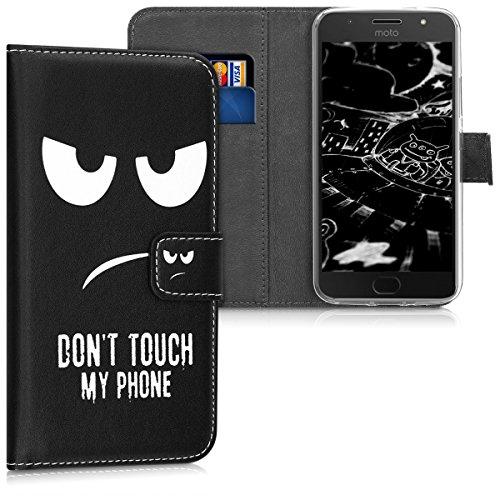 kwmobile Motorola Moto G5S Hülle - Kunstleder Wallet Case für Motorola Moto G5S mit Kartenfächern und Stand