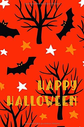 Notizbuch Halloween Fledermäuse: Für Notizen und Zeichnungen || 120 Seiten mit Punktraster || Dot Grid Journal || 15,24 x 22,86 cm (ca. DIN A 5)