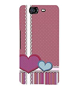 Creative Love Wallpaper 3D Hard Polycarbonate Designer Back Case Cover for Micromax Canvas Knight A350