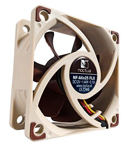 Gebläse-adapter-kabel (Noctua NF-A6x25 FLX, Leiser Premium-Lüfter, 3-Pin (60mm, Braun))