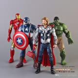World of Needs 4 in 1 Avengers Age of Ultron Toy Action Figures (Multicolour)