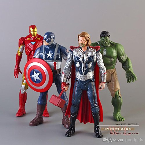 World of Needs 4 in 1 Avengers Age of Ultron Toy Action Figures (Multicolour) Best Online Shopping Store