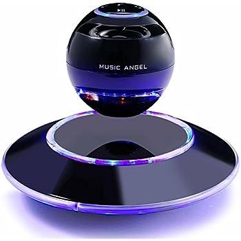 Schwebender Lautsprecher Freischwebender Lautsprecher mit Bluetooth 4.0 Multifarben LED 360 Grad Rotierende Soundeffekt (schwarz)