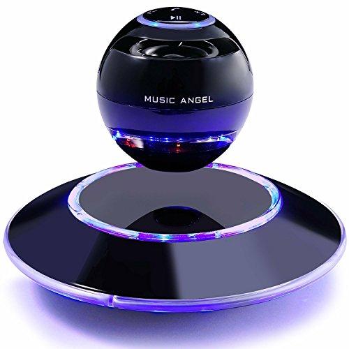 MUSIC ANGEL 360 Grad Lautsprecher mit Magnetschwebe mit Bluetooth 4.0 Multifarben LED kabellos, schwarz - 2