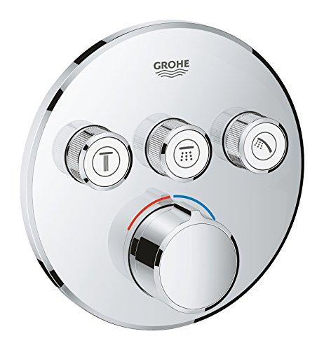 GROHE SmartControl Thermostate - Unterputzmischer mit 3 Absperrventilen (Fertigmontageset für Rapido SmartBox (35 6)) chrom, 29146000