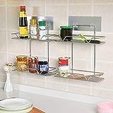 Wanshop® scaffale per bagno, doccia in acciaio INOX ventosa bagno Kitchen Storage organizer portaoggetti per doccia, A