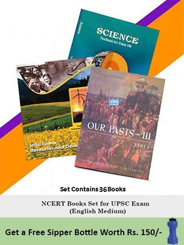 NCERT Books Set (English Medium) for UPSC Exam (Prelims, Mains), IAS, Civil Services, IFS, IES and other exams
