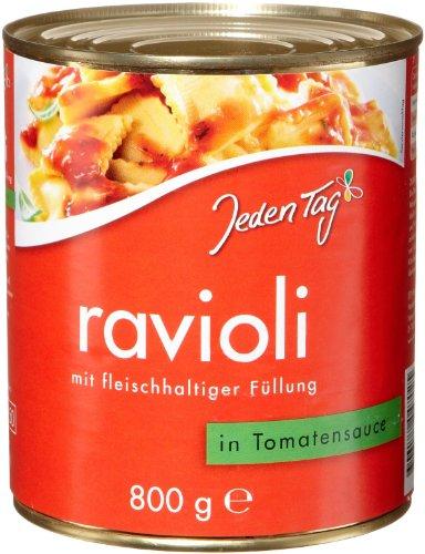 Jeden Tag Ravioli in Tomatensoße, 6er Pack (6 x 800 g)