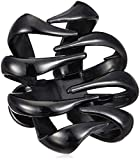 Accessorize Acc Bulldog Collection Hair Jewellery for Women (Black) (MN-38632903001)