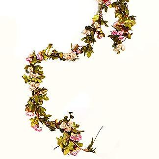 Turelifes ideal para fiestas en casa o bodas de 2,2 m de longitud 1 enredadera falsa con flores de cerezo de seda