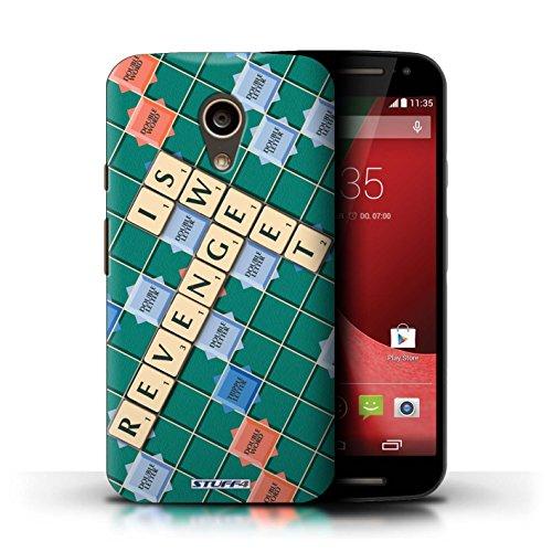 Kobalt® Imprimé Etui / Coque pour Motorola Moto G (2014) / Ignorance Béatitude conception / Série Mots de Scrabble Douce Vengeance