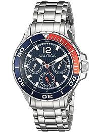 Nautica Midsize N21559M NST 02 Mid Classic Enamel-Bezel Stainless Steel  Watch 26d13144a7a