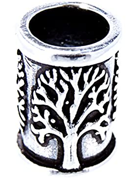 Bartperle Haarperle 925 Silber Lebensbaum 7mm