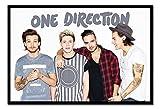 One Direction ohne Zain Landschaft Poster Kork Pinnwand, schwarzer Rahmen, 96,5x 66cm (ca. 96,5x 66cm)
