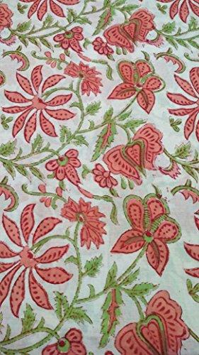handicraftofpinkcit Pink Blume gedruckt Baumwolle Stoff indischen Elegant bedruckter Stoff Craft Material Vorhänge Dressing 5Meter -