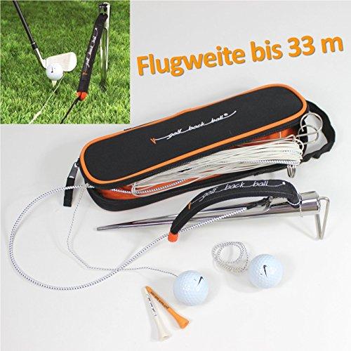 GOLF-BACK-BALL Driving Range Schwungtrainer-NIKE Golfball Platinium One - mobiler Outdoor Golfschwung-Trainer mobil