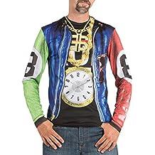 Rapero Gángster Disfraces fotorrealista T-Shirt - Mens extra de gran tamaño