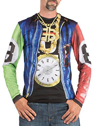 Imagen de rapero gángster disfraces fotorrealista t shirt  mens extra de gran tamaño