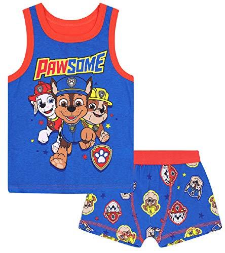 PAW Patrol - Jungen Unterwäsche-Set - Boxershorts & Unterhemd - Offizielles Merchandise - Geschenk - 5-6 Jahre